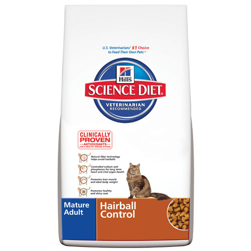 Science Diet  HAIRBALL CTRL MATURE 3.5LB