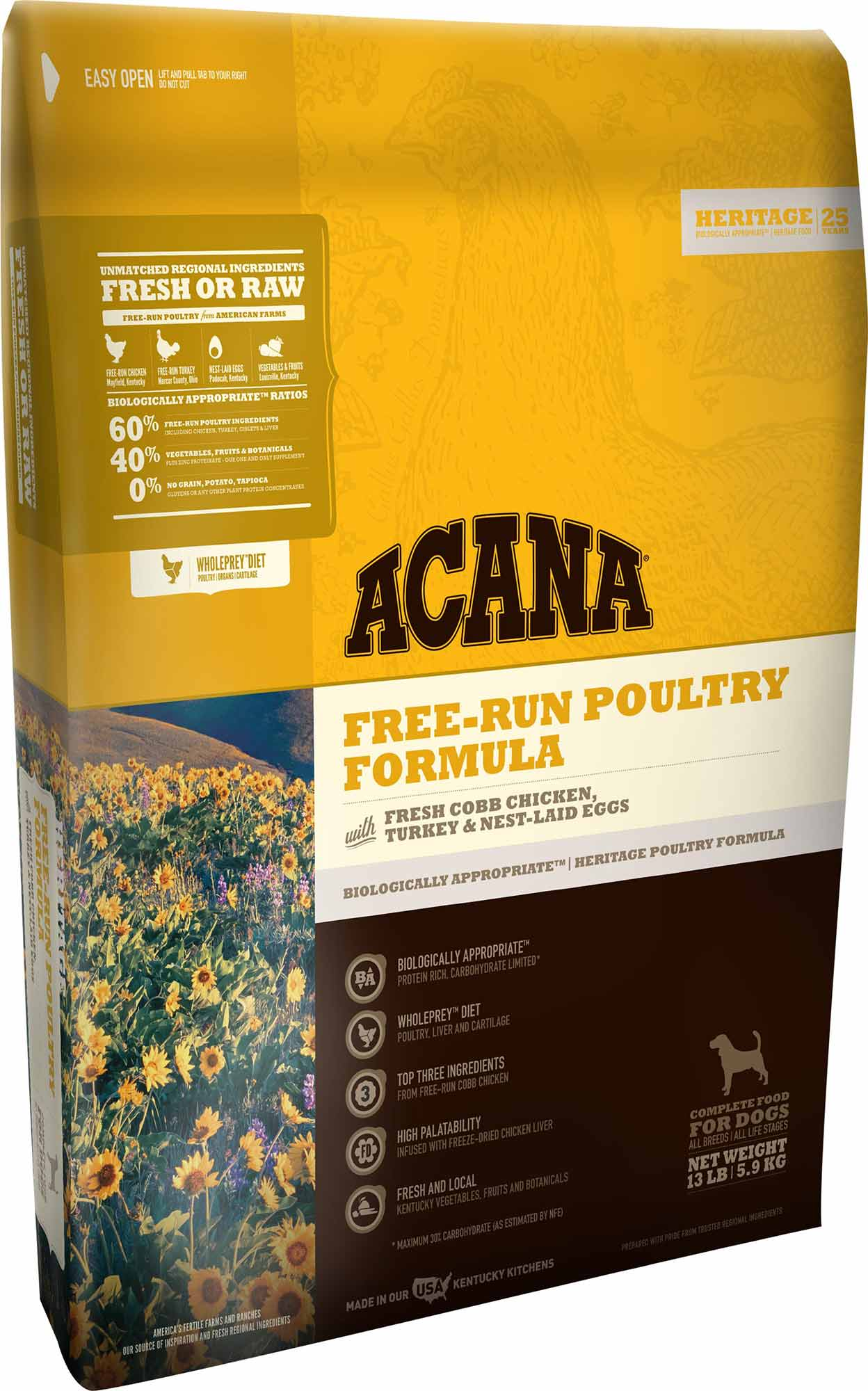 ACANA HERITAGE POULTRY 25LB