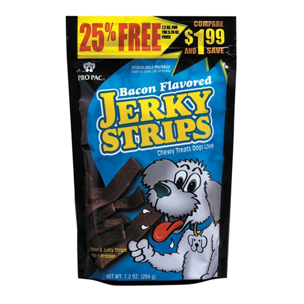 Pro Pac Bacon Flavored Jerky Strips 7.5oz