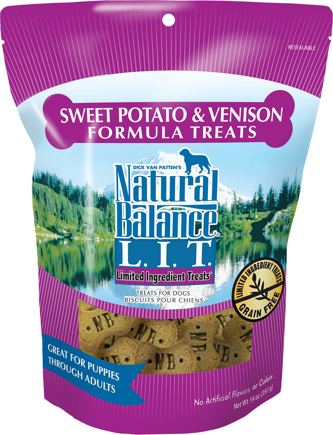 Natural Balance Limited Ingredient Sweet Potato & Venison Formula Small Breed Dog Treats 14oz