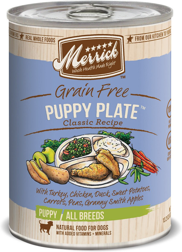MERRICK PUPPY PLATE 3.2OZ CAN